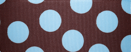 Brown & Light Blue Polka Dot