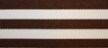 Brown & White Stripe