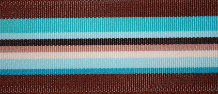 Turquoise & Brown Stripe