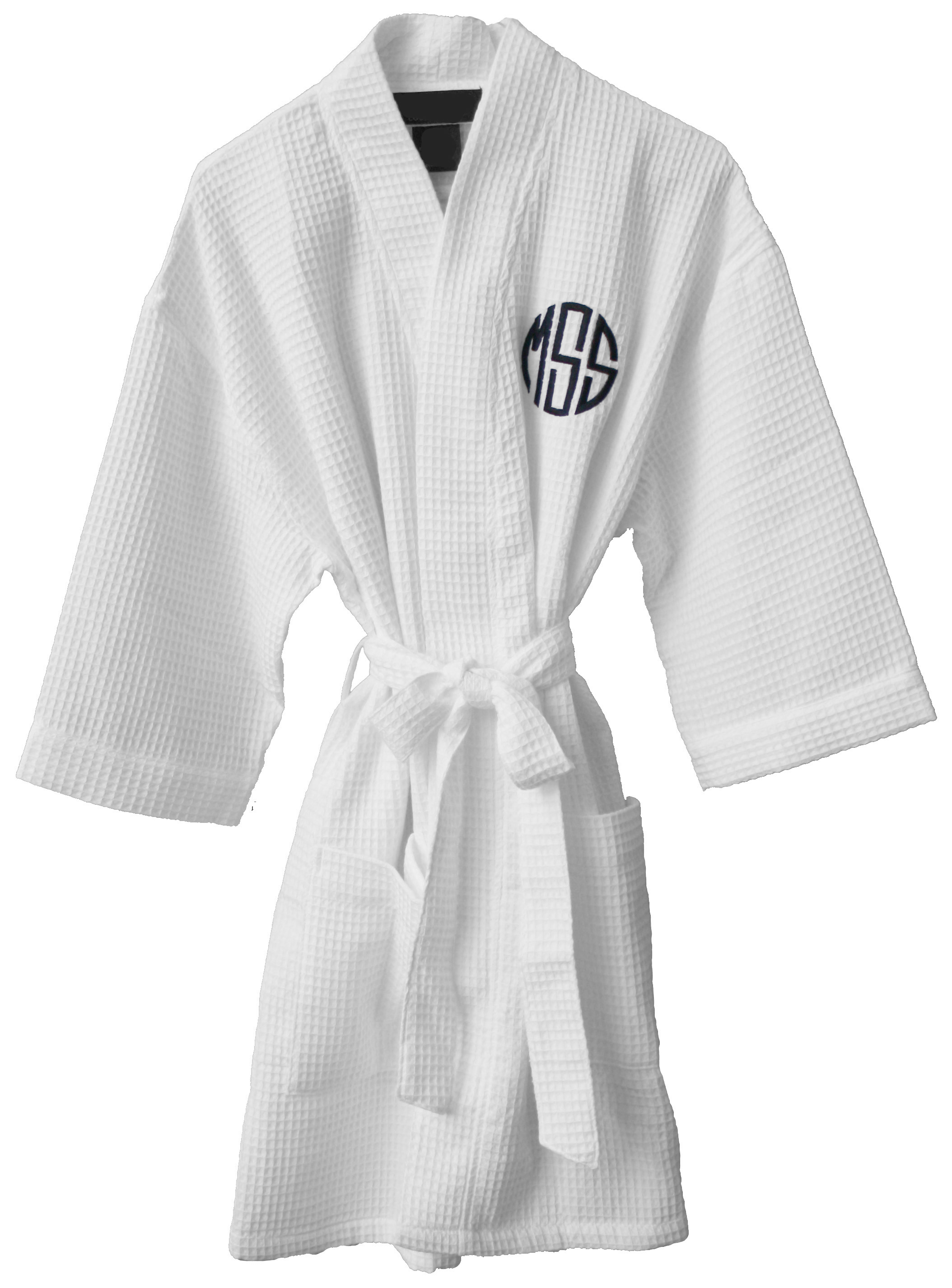 Monogrammed Cotton Waffle Weave Robe Justplaincute